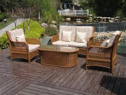 White Resin Wicker Outdoor Patio Furniture Set - outdoor u0026 garden wicker patio furniture for the touch of nature