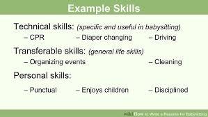Sample Babysitter Resume by How To Write A Resume For Babysitting With Pictures Wikihow