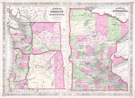 Oregon Map by File 1865 Johnson Map Of Washington Oregon Minnesota
