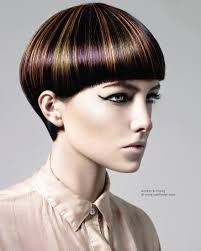 short haircut with a daring hair color pattern