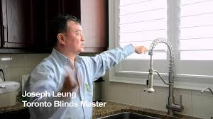 shutters and kitchen sinks toronto blinds master youtube