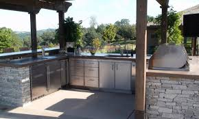 metal outdoor kitchen cabinets built in stainless steel bbq grill