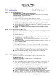 Resume Australia Examples by Doc 12401754 Example Resume Personal Profile Resume Sample Profile