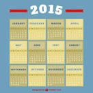 Vintage στυλ ημερολόγιο 2015 | Κατεβάστε το δωρεάν διάνυσμα