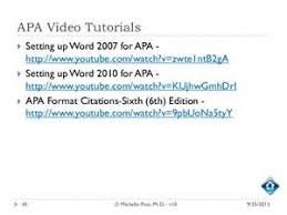 Referencing a dissertation in apa  th edition