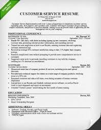 Aaaaeroincus Entrancing Customer Service Resume Samples Amp Writing Guide With Lovely Customer Service Representative Resume Sample