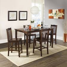Counter Height Dining Room Tables by Ashley Hopstand 5 Piece Round Counter Height Dining Set In Brown