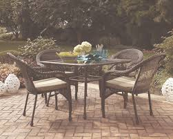 Patio Furniture Lowes Canada - garden treasures severson patio dining chair in all weather brown