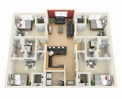 Four  Bedroom ApartmentHouse Plans Bedroom Apartment - Apartment house plans designs