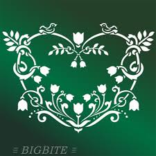 Shabby Chic Stencils by Damask French Shabby Chic Stencil Design No 1 Various Sizes