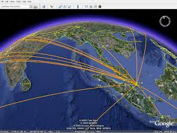 Mapping A Route by Give Your Flights A Spin In 3d On Google Earth Openflights