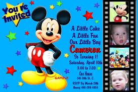Birthday Invitation Cards Models Mickey Birthday Invitations Redwolfblog Com