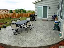 Backyard Cement Patio Ideas by Concrete Patio Cost Paver Patio Designs And Patio Patio