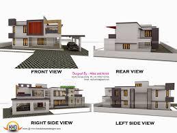 3d view with plan kerala home design and floor plans regarding
