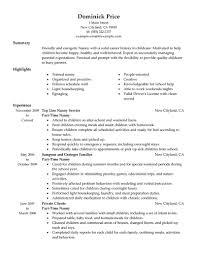 Child Care Cover Letter Samples Nanny Resume Sample Resume Cv Cover Letter