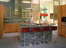 l shape kitchen design and decoration using light blue kitchen kitchen decoration using red brown leather pedestal modern kitchen island stools including light