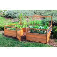 interesting above ground vegetable garden gardens ideas on