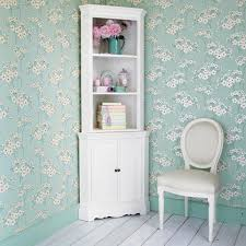 white modern corner bookshelf stand with 3 tier bookshelves and