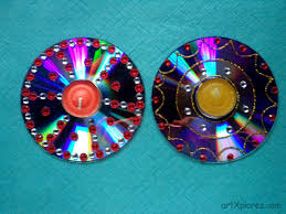 decorative diyas oil wax lamps using waste cd u0027s artxplorez