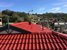 exterior attractive best choice roofing design ideas in cool red