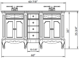 What Is The Standard Height Of A Bathroom Vanity - Height of bathroom vanity for vessel sink