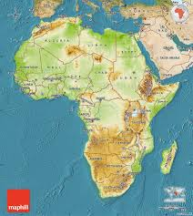 Physical Map Africa by Physical Map Of Africa Satellite Outside