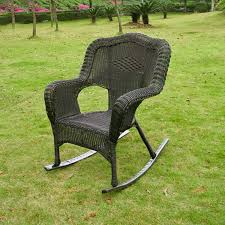 Wicker Resin Patio Furniture - amazon com wicker resin steel patio rocking chair antique pecan