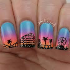 nail art inspired by the santa cruz boardwalk disney nails