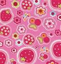 pink kawaii fabric with strawberries and flowers 0.5m - Kawaii ...