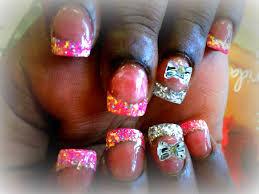 21 acrylic nail designs glitter tips acrylic nails with jade