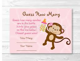 safari monkey guess how many baby shower game instant