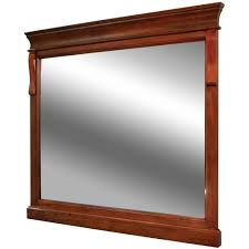 foremost naples 36 in x 32 in wall mirror in warm cinnamon