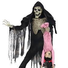 Life Size Skeleton Halloween by Life Size Animated Zombie Skeleton Peeper Reaper Halloween Prop