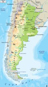 Map Of The South America by Large Physical Map Of Argentina With Major Cities Argentina