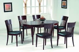 Oval Dining Room Tables Dark Walnut Modern Oval Dining Table W Optional Chairs