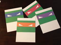 Invite Cards Easy Cheap Diy Teenage Mutant Ninja Turtles Tmnt Thank You