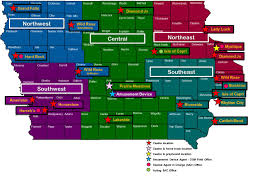 Map Of Iowa State by Dci Office Contact Information