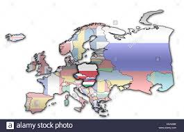 Political Map Europe by Political Map Of Europe With Flags Of Memeber Countries Of