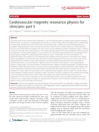 cardiovascular magnetic resonance physics for clinicians part ii