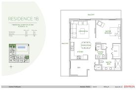 900 Sq Ft Floor Plans by Aventura Parksquare 1 Bedroom 1 5 Bath Plus Den Floor Plan