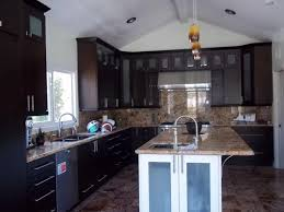 espresso kitchen cabinets with square glass doors cabinet