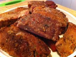 boneless pork ribs with rub