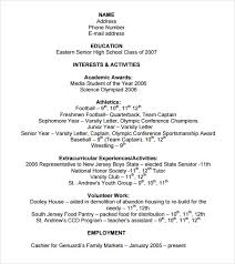 Application Resume Example by Sample College Resume 8 Free Samples Examples Format
