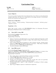 Sample Career Objectives For Resumes by Sample Resume Project Manager Position