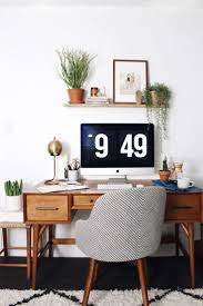 1612 best home decor with joann images on pinterest farmhouse wondering how to style your home office using mid century modern furniture look no