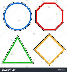 set roadsigns circle octagon stop sign stock vector 458911672
