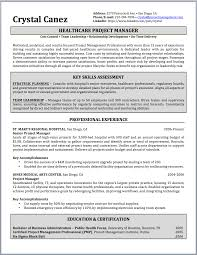 resume of pmp certified project manager resume for your job
