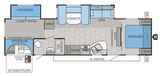 charming rear kitchen rv floor plans part 10 2017 jayco jay