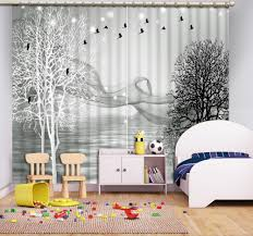 Living Room Curtain Looks Black And White Living Room Curtains Home Design Ideas