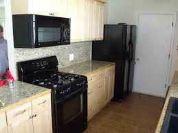 furniture brown kitchen cabinets with cenwood appliance for